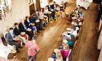 Wedding Guests enjoying a drum workshop
